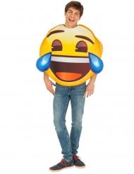 Tranen van het lachen Emoji™ kostuum voor volwassenen