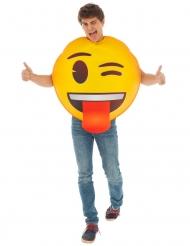 Knipoog Emoji™ kostuum voor volwassenen