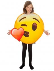 Hartje kusje Emoji™ kostuum voor kinderen