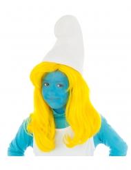 Gele Smurfin™ pruik voor kinderen