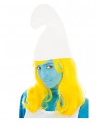 Gele Smurfin™ pruik voor volwassenen