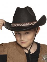 Zwarte cowboyhoed voor kinderen