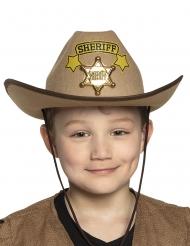 Sheriff cowboy hoed voor kinderen