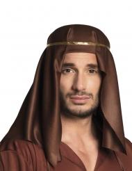 Bruine Arabische sjeik hoofdband voor volwassenen