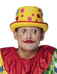 Clown hoed met knopen voor volwassenen