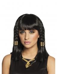 Korte zwarte Egyptische pruik voor vrouwen