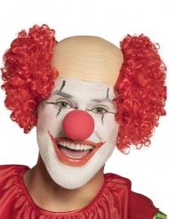 Rode kale hoofd clown pruik voor volwassenen