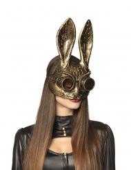 Goudkleurig Steampunk konijn masker voor volwassenen