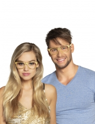 3 goudkleurige brillen voor volwassenen