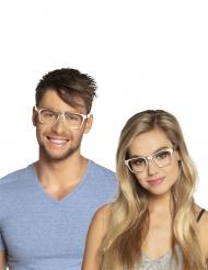 3 zilverkleurige brillen voor volwassenen