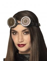 Steampunk rozet bril voor volwassenen