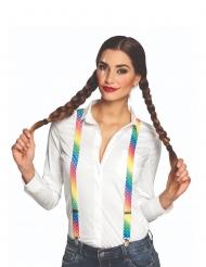 Veelkleurige clown bretels voor volwassenen