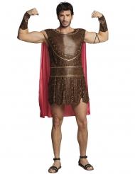 Bruine Romeinse strijder outfit met cape voor volwassenen