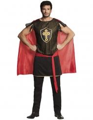 Middeleeuwse ridder outfit met cape voor mannen