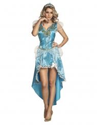 Blauwe sprookjes prinses outfit voor vrouwen