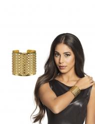 Goudkleurige koningin armband voor volwassenen