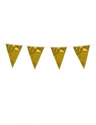 Goudkleurige mini vlaggenslinger