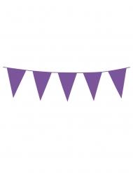 Paarse mini vlaggenslinger