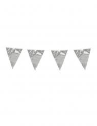 Slinger met zilverkleurige mini vlaggetjes