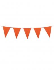 Oranje slinger met mini vlaggetjes