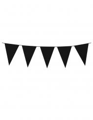 Zwarte slinger met mini vlaggetjes