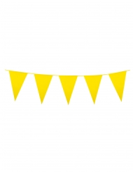 Gele mini vlaggenslinger