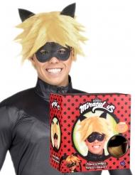 Cadeauverpakking Cat Noir™ pruik en masker voor volwassenen