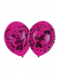 6 roze latex Minnie Mouse™ ballonnen