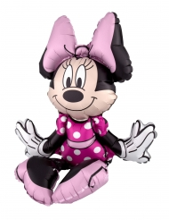 Aluminium zittende Minnie Mouse™ ballon