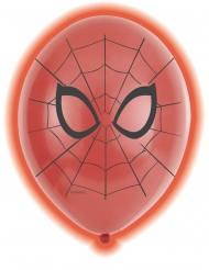 5 latex LED Spiderman™ ballonnen
