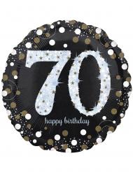 Holografische 70 jaar aluminium ballon