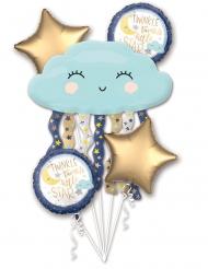 Aluminium wolk en sterren ballon boeket