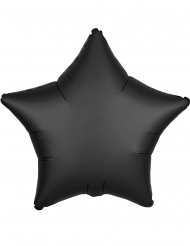 Satijnachtige zwarte aluminium ster ballon