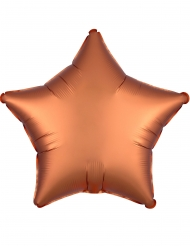 Satijnachtige koperkleurige aluminium ballon