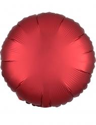 Satijn robijnkleur aluminium ballon