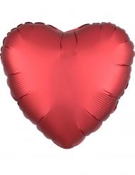 Satijnachtige aluminium rode hart ballon