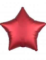Robijnkleurige aluminium ster ballon