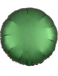 Satijnachtige smaragdgroene ronde aluminium ballon