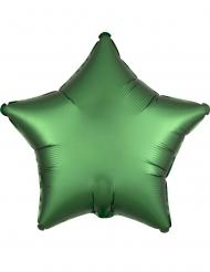 Smaragdgroene satijn aluminium ster ballon