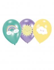6 latex klein wolkje ballonnen
