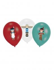 6 latex indianenstam ballonnen