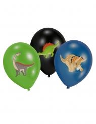 6 latex Grote Dinosaurus ballonnen
