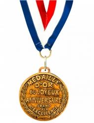 Gouden Joyeux Anniversaire medaille
