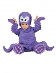 Paarse octopus pak met capuchon voor baby