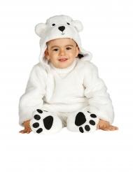 Ijsbeer kostuum met capuchon voor baby