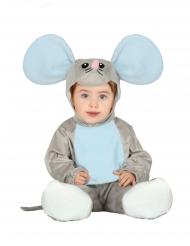 Grijze muis pak met capuchon voor baby