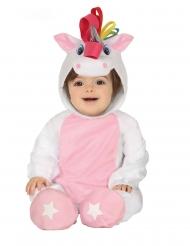 Witte eenhoorn pak met capuchon voor baby