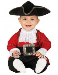 Rood piraten kapitein kostuum voor baby