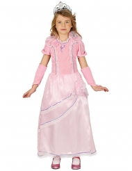Roze en paarse mooie prinsessen jurk voor meisjes