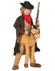 Cowboy te paard carry me kostuum voor kinderen